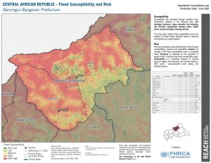 Bamingui Bangoran, CAR (Flood Risk Map 26JUNE2020)