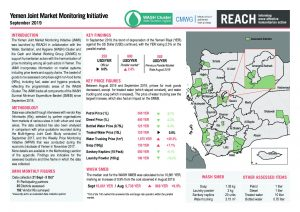 Joint Market Monitoring Initiative (JMMI) Yemen, Situation Overview - September 2019
