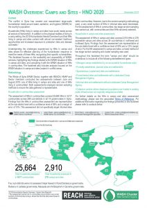 Whole of Syria WASH Assessment: Camps and Sites, December 2019