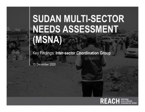 2020 Multi-Sectoral Needs Assessment, Key Findings Presentation, ISCG, Sudan