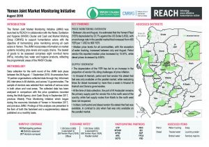 REACH Yemen - Situation Overview - Joint Market Monitoring Initiative - August 2018