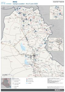 Iraq Reference Map Camp Location - August 2020 - A1