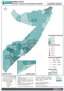 REACH Somalia Map Somalia STM SeverityEnvSanitation 25SEP2019 A4