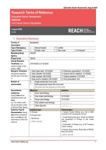 REACH_Terms Of Reference_Education Sector's Response Assessment