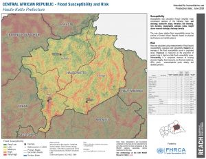 Haute Kotto, CAR (Flood Risk Map 26JUNE2020)