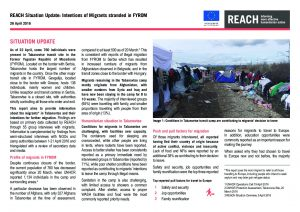 MKD_Situation Overview_Intentions of Stranded Migrants in Tabanovtse, FYROM_26 April 2016