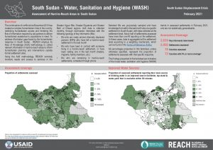 REACH SSD Factsheet Assessment of Hard to Reach Areas WASH Feb 2021
