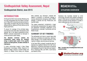Nepal_Situation Overview_SindhupalchokValleyAssessment_July2015