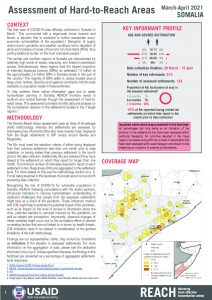 Assessment of Hard to Reach Areas in Somalia, March-April 2021