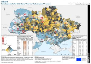 REACH UKR map Ukraine SocioEconomicVulnerabilitySubregionalLevel 22april2020 a3