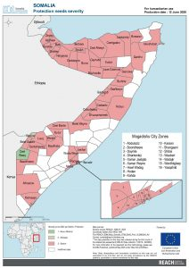 REACH Somalia Map Somalia STM DSA3 Protection Severity 12 June 2020