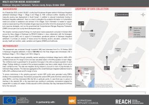 Multi-Sectoral Needs Assessment in Kalobeyei Integrated Settlement, Situation Overview -  October 2020