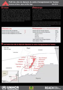NER_Factsheet_Diffa_Profiles des sites du centre d'enregistrement de Toumour_Aout 2018