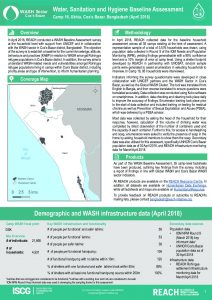 BGD_Factsheet_WASH HH Survey_Camp 16_April 2018