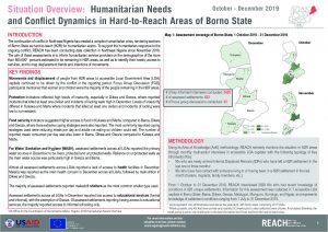 Hard-to-Reach (H2R) Areas Situation Overview, Borno State, Nigeria, October - December 2019