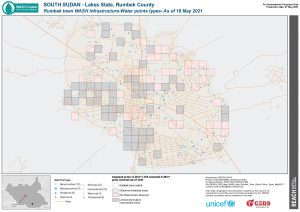 REACH SSD Map WASH Infra Rumbek Town Water Points Types May2021