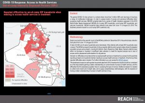 REACH COVID-19 Health Services Perception Assessment in Iraq Factsheet - Out of camp IDPs