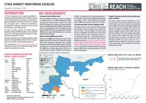 REACH Northwest Syria Market Monitoring Situation Overview, March 2020
