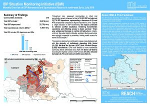 SYR_Factsheet_CCCM_ISMI Monthly Displacement Summary_July 2019