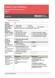 REACH Iraq ToR Informal Sites Profiling and Intentions October 2020