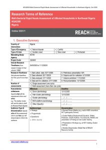 REACH_Nigeria_Northwest Nigeria Rapid Needs Assessment_Terms of Reference_November 2020