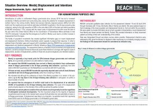 SYR_Situation Overview_Menbij Displacement and Intentions_April 2018