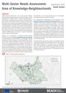 Area of Knowledge-Neighbourhoods Assessment in Upper Nile State, South Sudan,  October 2020