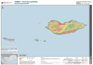 REACH YEM MAP Socotra HVA FloodSusceptibility 16APR2020 A4 V2