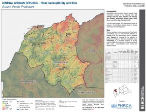 Ouham Pende, CAR (Flood Risk Map 26JUNE2020)