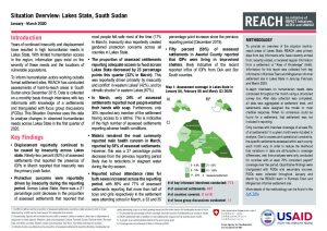 Area of Knowledge Situation Overview, Lakes State, South Sudan - January-March 2020