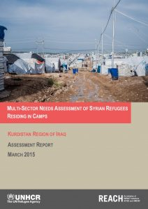 IRQ_Report_Multi-Sector Needs Assessment of Syrian Refugees in Camps_March2015