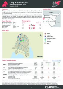 Camp and Informal Site Profiles round 7 factsheet, Twahina - February 2020