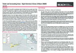 IRQ_Rapid Overview of Areas of Return_Telafar_Situation Overview_April 2018