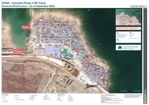 Areesheh Camp Phase 4 Infrastructure Map A0, Northeast Syria – Septenber 2020