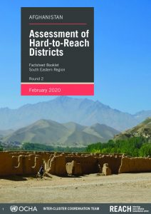 Assessement of Hard-to-Reach areas, South Eastern region booklet, February 2020