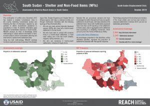 Assessment of Hard to Reach Areas, Shelter Sectoral Overview, South Sudan -October 2019
