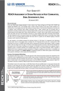 KRG - Fact Sheet Phase I - Erbil Governorate