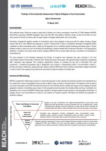 Information Sheet Syrians in Host Communities Ajloun Household Analysis