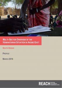 SSD_Report_Akobo_MultisectorialOverview_Mar2016