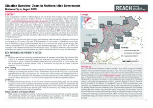 HSOS Zoom In Northern Idleb Governorate - August 2019