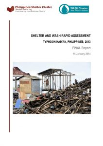 Shelter and WASH rapid assessment final report - Haiyan - January2014
