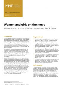 EU_Briefing Paper_Women and girls on the move: a gender analysis of mixed migration to Europe_Dec 2016