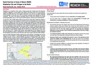 IRQ_Situation Overview_ROAR Muqdadiya District_October 2018