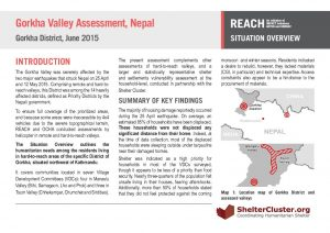 Nepal_Situation Overview_GorkhaValleyAssessment_July2015