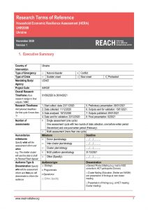 REACH_Ukraine_Household Economic Resilience Assessment_Terms of Reference_November 2020