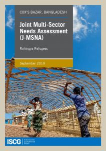Rohingya Response, Refugee Community: Joint Multi-Sector Needs Assessment Report, 2019
