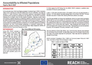Nigeria Accountability to Affected Population Assessment –  Situation Overview, March 2020