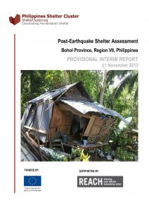 PHL - Post-Earthquake Shelter Assessment Bohol Province, Region VII PROVISIONAL INTERIM REPORT 11 November 2013