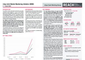 Joint Market Monitoring Initiative (JMMI) Libya, Situation Overview – April 2020 (week 1)