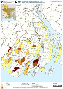 BGD_Map_Reported Number of Damaged Destroyed Shelters per Union_June 2013